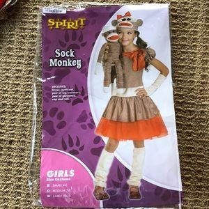 Spirit sock monkey Halloween costume girl M.